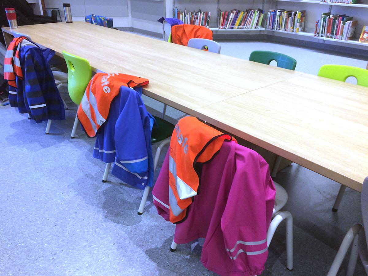 Langbord i barneavdelingen